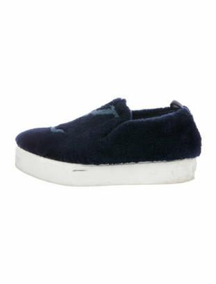Louis Vuitton Fur Sneakers Blue