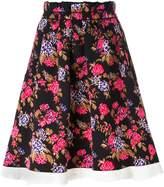 MSGM floral tapestry skirt