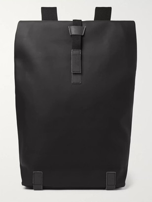 Brooks England - Pickwick Large Iridescent Leather-Trimmed Coated Cotton-Canvas Backpack - Men - Black
