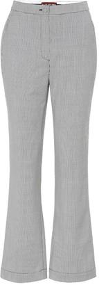 ALEXACHUNG Houndstooth wool-blend pants