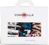 Cosabella Printed Weekender 3-Pack Low Rise Lace Thongs WKPPK3321