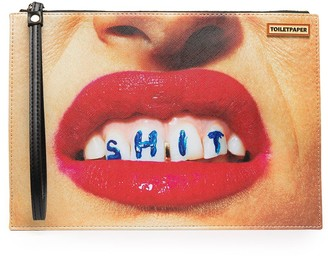 Seletti Lipstick Photo Clutch Bag