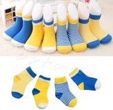 MEXUD 4 Pairs Cute Newborn Baby Cotton Soft Ankle Socks For Toddler Boys Girls 0 - 3 Years