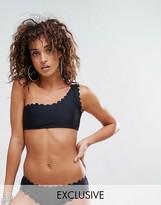 South Beach Scallop Edge One Shoulder Mix & Match Bikini Top