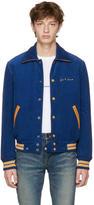Saint Laurent Blue Je Taime Teddy Jacket