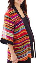Asstd National Brand Maternity 3/4-Sleeve Open-Frame Kimono Jacket