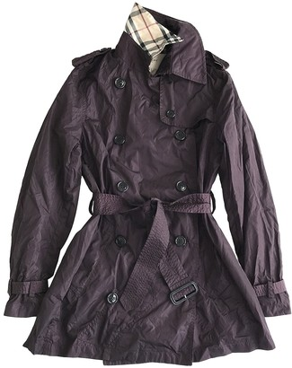 Burberry Purple Trench Coat for Women