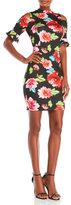 XOXO Floral Print Cold Shoulder Dress