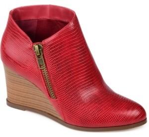 Journee Collection Women's Glam Wedge Bootie Women's Shoes