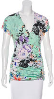 Etro Ruched Floral Print Top