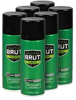Brut Anti-Perspirant and Deodorant Spray, Classic, 6 Ounce (Pack of 6)