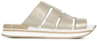 Hogan Metallic Mule Sandal