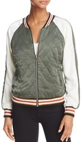 Cupcakes And Cashmere Brice Reversible Bomber Jacket