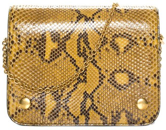 Mulberry Yellow Python Leather Clifton Crossbody