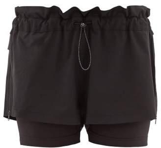 adidas by Stella McCartney Double-layer Performance Shorts - Womens - Black