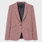 Paul Smith Women's Tailored-Fit Damson Puppytooth Wool One-Button Blazer