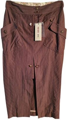 Kenzo Brown Linen Skirt for Women Vintage