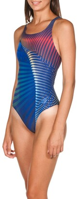 Arena One Ares Printed Pool Swimsuit