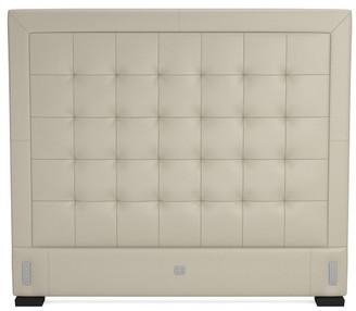 Williams-Sonoma Irving Extra-Tall Tufted Leather Bed & Headboard