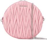 Miu Miu embossed round crossbody bag - women - Leather - One Size