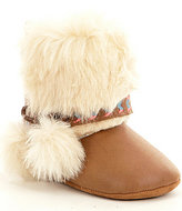 Jessica Simpson Girls' Faux Fur Marci Boot Crib Shoes