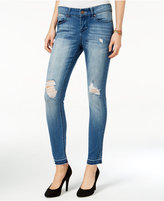 Indigo Rein Juniors' Ripped Frayed Hem Skinny Jeans