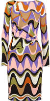 Emilio Pucci Printed Gathered Jersey Dress - Purple