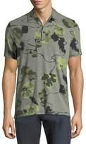 Michael Kors Floral-Knit Polo Shirt