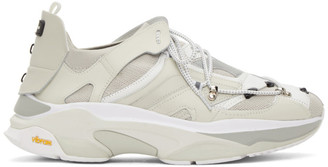 ANDERSSON BELL White Re-Made Stewart Sneakers