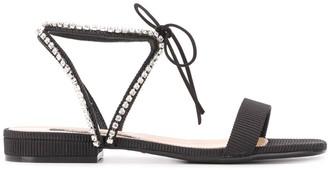 Sergio Rossi Rhinestone Sandals