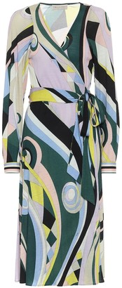 Emilio Pucci Printed wool-blend midi dress