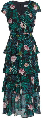 Gina Bacconi Mericia Floral Tiered Dress