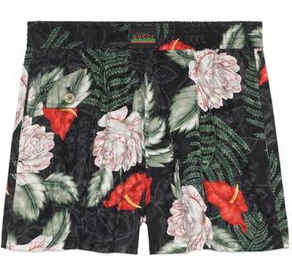 Gucci Hawaiian print silk shorts