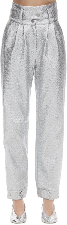 Annakiki High Waist Faux Patent Leather Pants