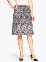 Talbots Abstract Jungle-Jacquard Skirt