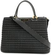 Emporio Armani quilted shopper tote bag