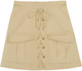 Roberto Cavalli Stretch-cotton twill mini skirt