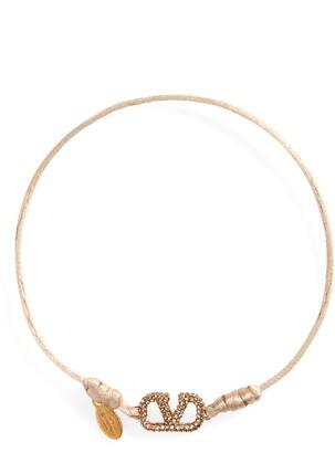 Valentino Crystal VLOGO Friendship Bracelet