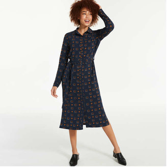Joe Fresh Women's Knit Shirt Dress, Black (Size M)