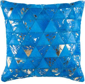 Safavieh Clairton Metallic Cowhide Pillow