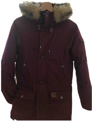 Carhartt Wip Burgundy Cotton Coat for Women