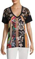 Etro Column Floral V-Neck Shirt