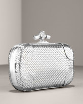 Metallic Knotted Clutch