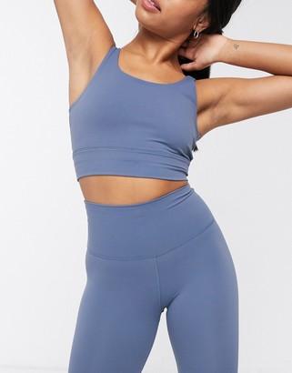 Nike Training Nike Yoga luxe crop top in blue grey