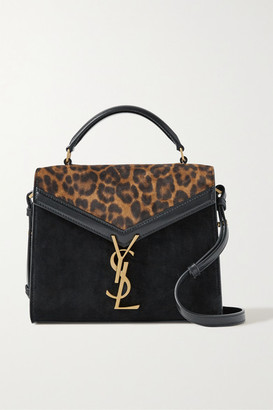 Saint Laurent Cassandra Mini Leopard-print Suede And Leather Shoulder Bag - Leopard print