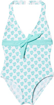 Elizabeth Hurley Green Waterbaby Halter Swimsuit