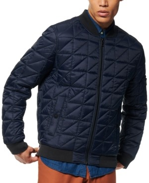 Andrew Marc Men's Bugby Quilted Bomber Jacket