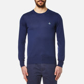 Vivienne Westwood Man Crew Neck Classic Knitted Jumper Blue