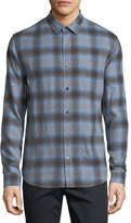 Vince Shadow Plaid Long-Sleeve Shirt