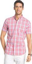 Izod Men's Check Advantage Button-Down Shirt